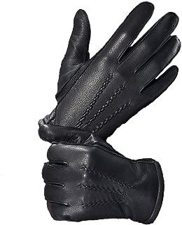 Mens Deerskin Leather Warm Cashmere Lined Dress Luxury Vintage Gloves