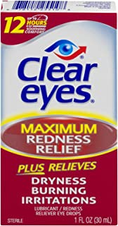 Clear Eyes   Maximum Redness Relief Eye Drops   1 FL OZ   Pack of 3