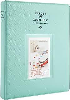CAIUL Compatible 128 Pockets Mini Photo Album for Fujifilm Instax Mini 7s 8 8+ 9 25 26 50s 70 90 Film, Polaroid PIC-300 Z2300 Film (Ice Blue)