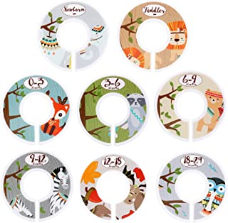 Baby Closet Dividers for Baby Clothes - Set of 8 Double Side Baby Closet Size Dividers Special Closet Organizer/Hangers Di...