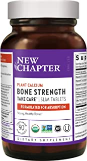 New Chapter Calcium Supplement - Bone Strength Whole Food Calcium with Vitamin K2 + D3 + Magnesium, Vegetarian, Gluten Fre...