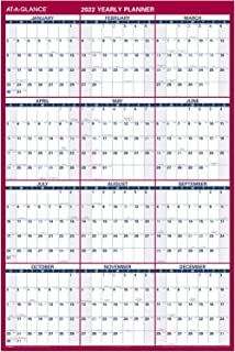 "$29 » 2022 Erasable Calendar, Dry Erase Wall Planner by AT-A-GLANCE, 48"" x 32"", Jumbo, Vertical/Horizontal, Reversible (PM32628)"