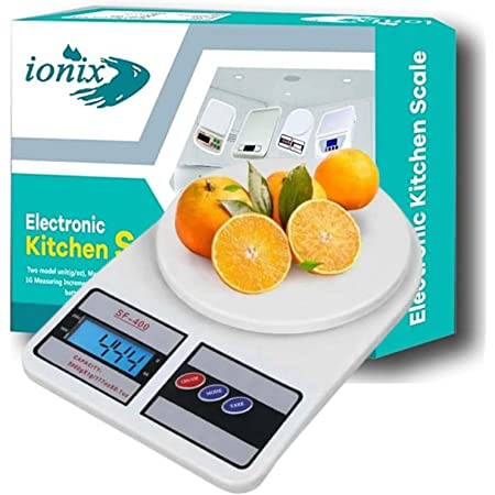 Ionix Weight Machine | Weighing scale, Digital Weight Machine, Weight Machine for Home Kitchen & Shop, Multipurpose Portable, Electronic Weight Machine, 10 Kg - With Back Light Pack of 01