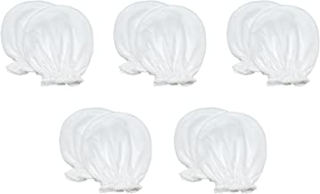 Liwely 5 Pairs Unisex-Baby No Scratch Mittens, 100% Cotton, Solid White