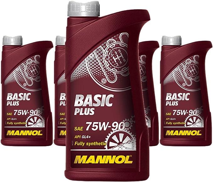 X 1l Mannol Basic Plus 75w 90 Api Gl 4 Fully Synthetic Manual Transmission Axle Oil Auto