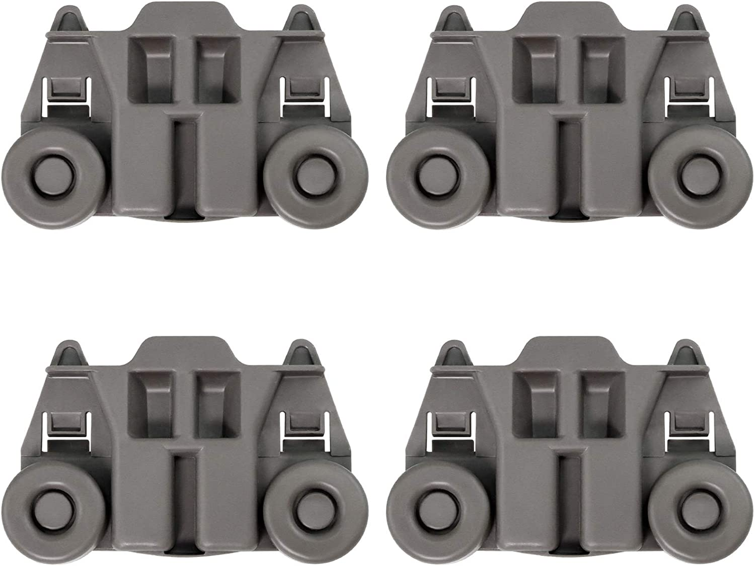 4 PACK W10195417 UPGRADED Super beauty product restock quality top Dishwasher Dish Rack Wheels Roll Super-cheap Lower