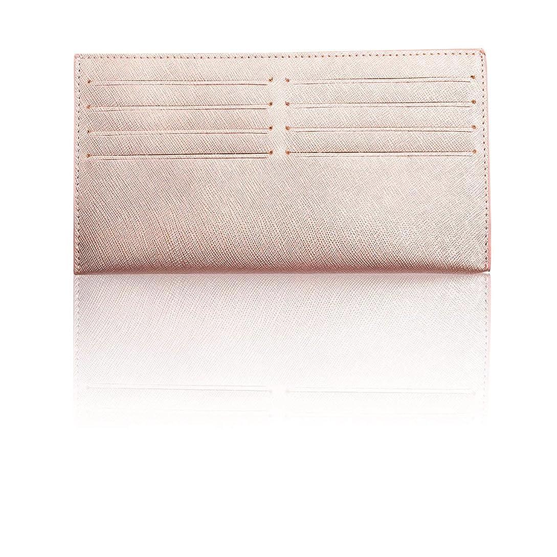 うなずく淡い製造業Felimoa インナー カードケース 長財布用 牛革 カードホルダー 8枚収納 薄型 カード入れ