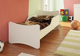Best For Kids barnsäng basic utan madrass i 8 storlekar och 32 mönster + grå (90 x 200, vit)