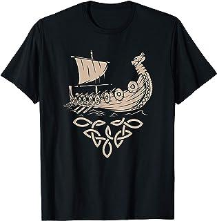 バイキング船 スカンジナビア ヴァルハラ 斧 戦士プレゼント Tシャツ