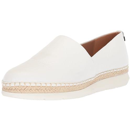 bbf5577447e1b White Leather Espadrilles: Amazon.com