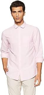 Jack & Jones Men's Solid Slim Fit Linen Casual Shirt