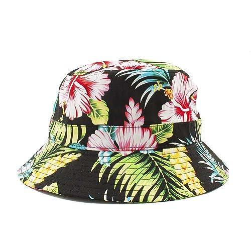 d50e037042f Bucket Hat One Size for Unisex Multi Style Hawaiian Flower Galaxy American