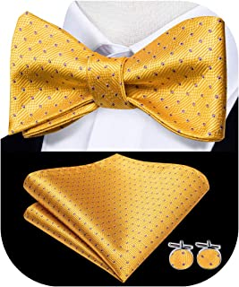 ForgetMe Perfect Wooden Mens Necktie Multiple Sets Mixed Design Classic Mens Self-Tie Bow tie /& Pocket Square Wooden Bow Tie Adjustable Neck Band//Pocket Square /& Cufflink Set