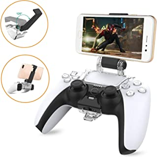 Mobile phone Clip Mount for PS5 Dualsense Controller, Compatible with PlayStation 5 Controller Remote Play Clamp Bracket H...