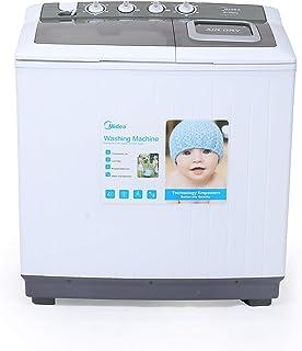 Midea MTE120P1201Q 12 KG Twin Tub Semi Automatic Washing Machine 5 Star Rating White Color, 1 Year Warranty