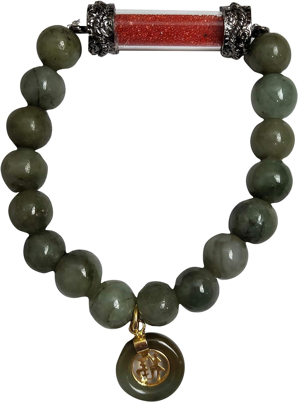 Many popular brands Buddha Amulet Pendant Natural Green Ener Stone In stock Bracelets Healing