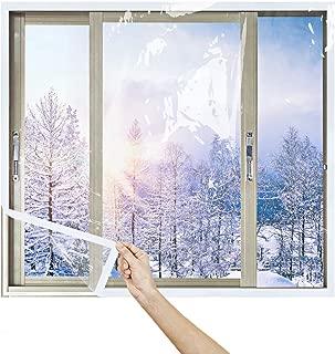 Insulated Window Film, Indoor Heat Resistant Window Door Film Insulator Kit 39x86in Transparent