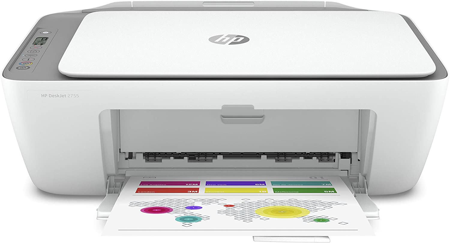 HP DeskJet 2755 Wireless All-in-One Printer, Mobile Print, Scan & Copy, HP Instant Ink Ready, Works with Alexa (3XV17A): Electronics