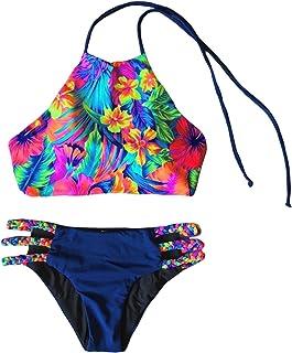Jueshanzj Womens Swimwear Sexy Printed Bandage Bikini Sets