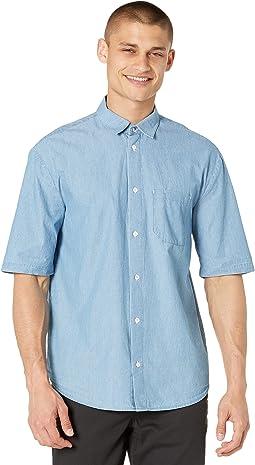 Short Sleeve Shirt with Convertible Collar