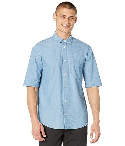 Scotch & Soda Short Sleeve Shirt with Convertible Collar