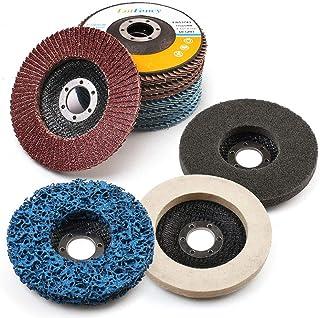 11 STKS Flap Discs & Slijpen Polijstschijven Set door LotFancy - 115 mm x 22,23 mm 40 60 80 120 Grit Diverse Schuurwielen,...