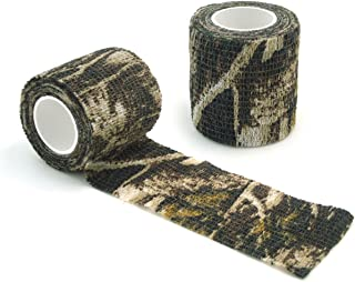 WINGONEER 2pcs Self-Adhesive Non-Woven Camouflage wrap Rifle Gun Hunting Camo Stealth Tape 4.5M - Anti-Camouflage