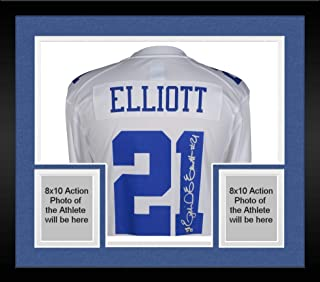 Framed Ezekiel Elliott Dallas Cowboys Autographed White Nike Game Jersey - Fanatics Authentic Certified