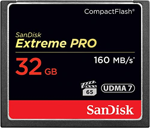 SanDisk Extreme PRO 32GB CompactFlash Memory Card UDMA 7 Speed Up To 160MB/s- SDCFXPS-032G-X46