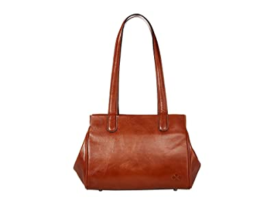 Patricia Nash Lechelle Frame Pocket Satchel (Tan) Handbags
