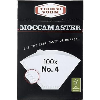 Technivorm Moccamaster #4 White Paper Filters, 100-count per box