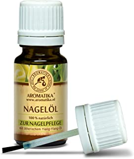 Nail Oil Cuticle 0.34oz - Includes a Mix of 100% Pure & Natural Grapeseed - Jojoba - Lemon - Ylang Essential Oils for Nail Growth - Strength - Elasticity - Cuticle Oil - Nail Care