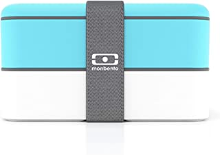 monbento-MB Original Bento Box, Light Blue/White by monbento