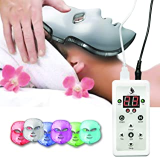 Red Light Therapy LED Face Mask 7 Color | LED Mask Therapy Facial Photon For Healthy Skin Rejuvenation | Collagen, Anti Aging, Wrinkles, Scarring | Korean Skin Care, Facial Skin Care Mask Updated Version (Version 2) (Off-white)