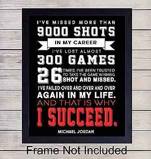 michael jordan why i succeed poster