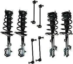 Front & Rear AWD Driver & Passenger Side Complete Strut & Spring Assembly Set & (4) Sway Bar End Links for 2008-2010 Toyota Highlander [AWD]