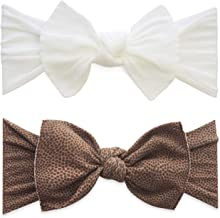 Baby Bling Bows 2 Pack Girls' Knotted Headbands
