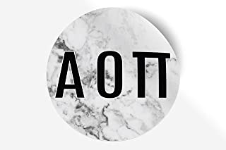 """Alpha Omicron Pi Sticker Greek Sorority Decal for Car, Laptop, Windows, Officially Licensed Product, Monogram Design 5"""" x 5"""" - White Marble"""