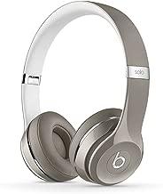 Beats Solo2 WIRED On-Ear Headphones Luxe Edition NOT WIRELESS - Silver (Renewed)