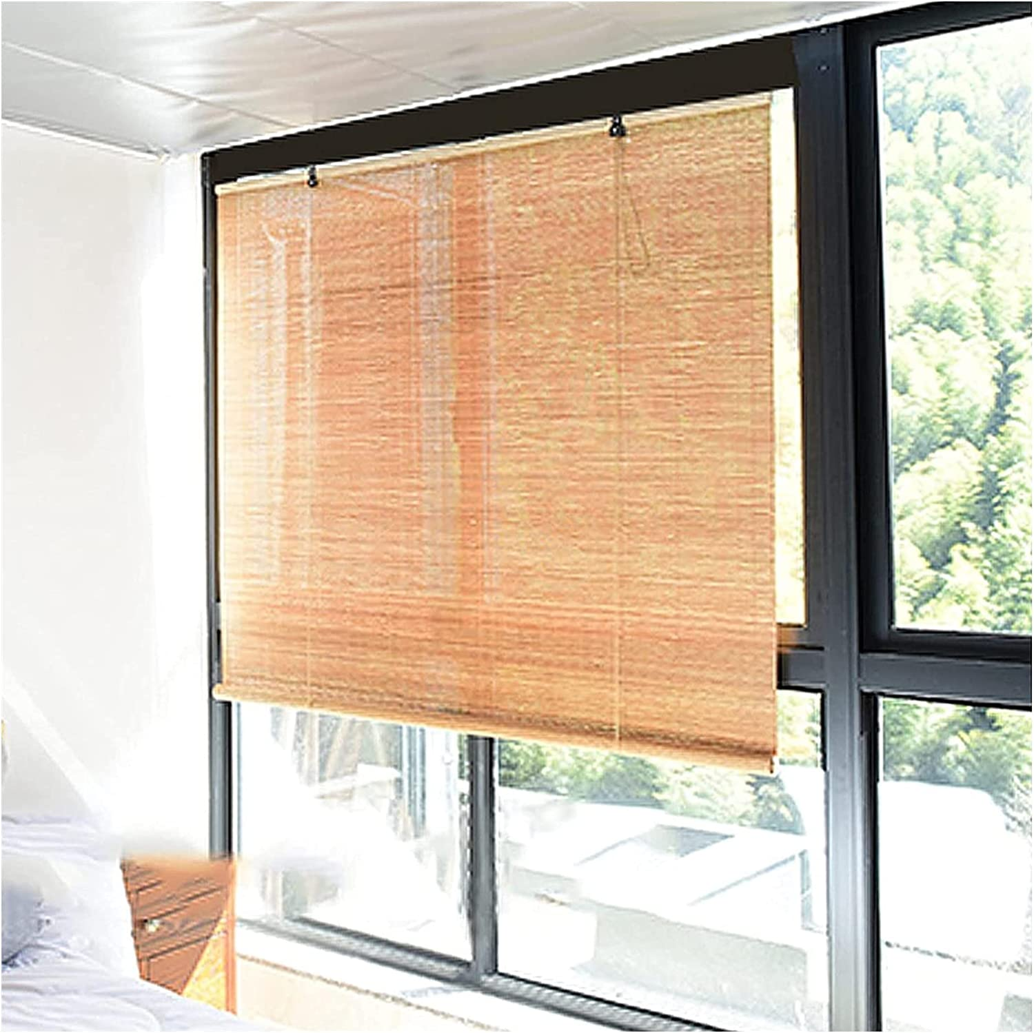 Free free shipping anywhere in the nation Bamboo Blinds for Windows Natural Home Roller Blind Breat