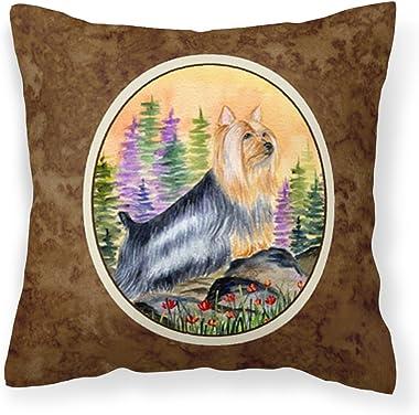 Caroline's Treasures SS8262PW1414 Silky Terrier Decorative Canvas Fabric Pillow, 14Hx14W, Multicolor