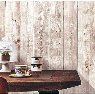[Isdy] 壁紙 シール はがせる 壁紙 リメイク シート リフォーム ウォール ステッカー カッティング(10m×45cm ヴィンテージ 木目調)