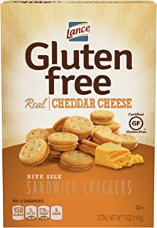 Lance Gluten Free Cheddar Cheese Sandwich Crackers, 5 Ounce (Pack of 4)