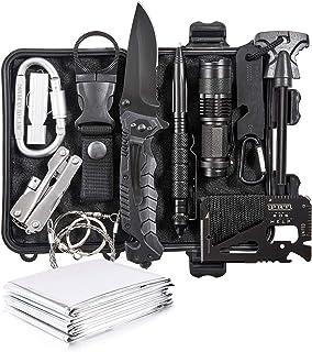 Emergency Survival Kit 13 in 1- Outdoor Survival Gear...