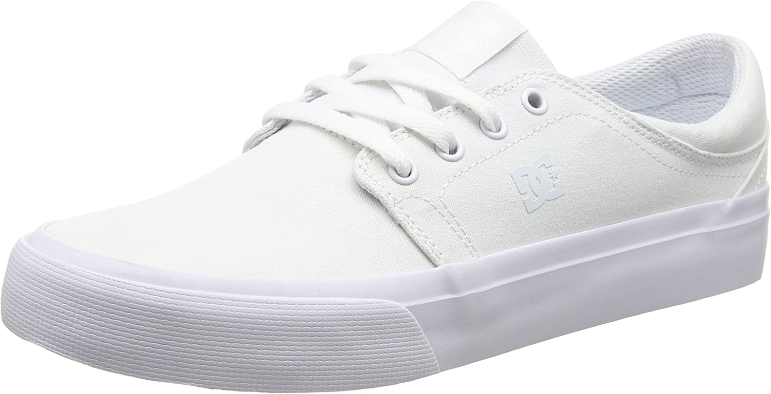 DC shoes Unisex Adults' Trase TX M shoes Low-Top Sneakers Off-White Size  6.5 UK