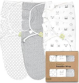 Organic Baby Swaddle Sleep Sacks - 3-Pack Newborn Baby Swaddles 0-3 Months - Ergonomic Baby Sleep Sack - Infant Swaddle Sl...