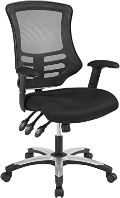 Modway Calibrate Mesh Adjustable Computer Desk Office Chair in Black