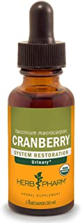 Herb Pharm Certified Organic Cranberry Liquid Extract for Urinary Tract Support - 1 Ounce
