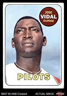 1969 Topps # 322 Jose Vidal Seattle Pilots (Baseball Card) Dean's Cards 2 - GOOD Pilots
