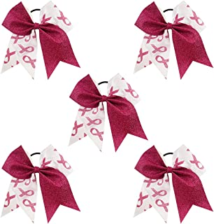 breast cancer awareness softball bows
